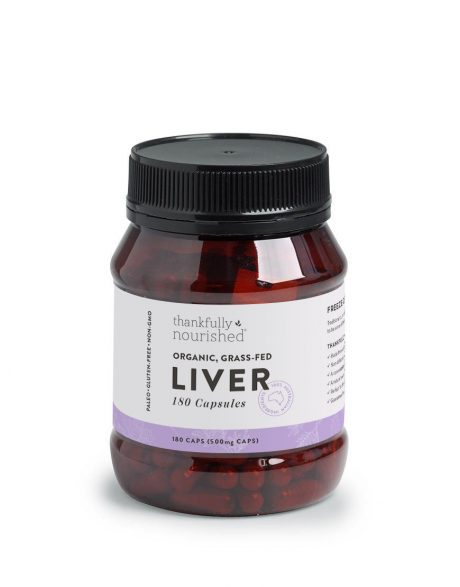 Thankfully Nourished Liver Capsules 180 caps