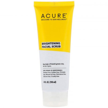 Acure Brightening Facial Scrub 118ml