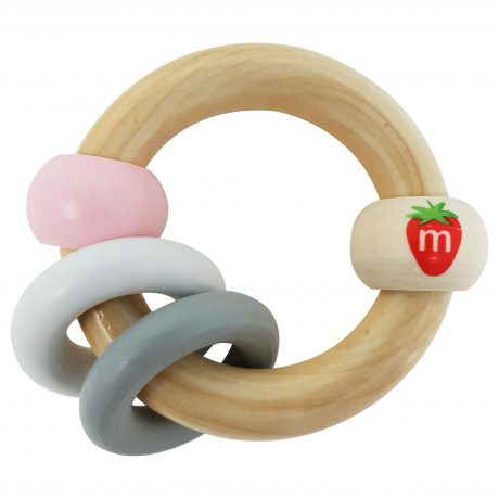 Munch - Wooden Bracelet Soothing Toy - Pink