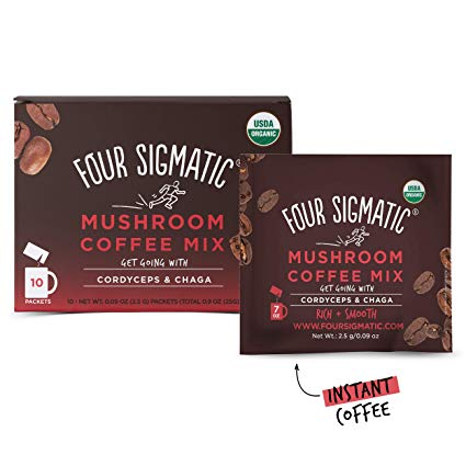 Four Sigmatic Mushroom Coffee 2.5g Packets with Cordyceps