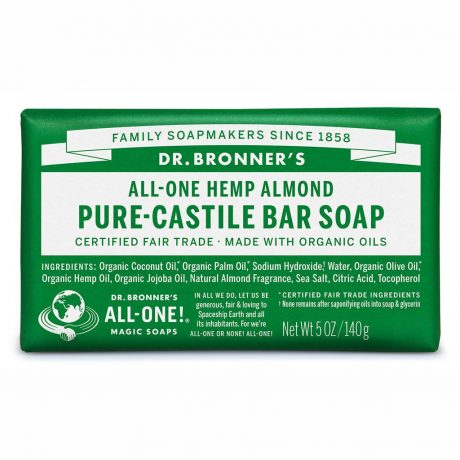 Dr. Bronner's Pure-Castile Soap Bar - Almond 140g