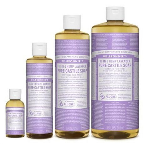 Dr Bronner's Pure Castile Liquid Soap Lavender (Hemp 18-in-1)