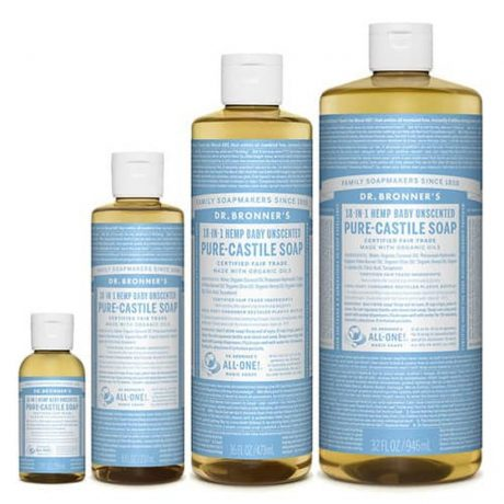 Dr Bronner's Pure Castile Liquid Soap Unscented (Hemp 18-in-1)