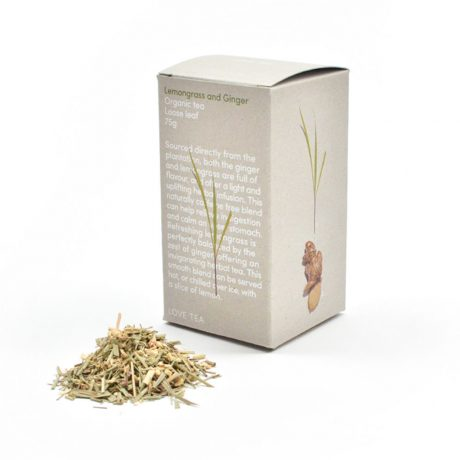 Love Tea Lemongrass & Ginger Loose Leaf Tea 75g