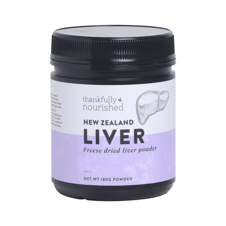 Thankfully Nourished Grass Fed Liver Powder 180g