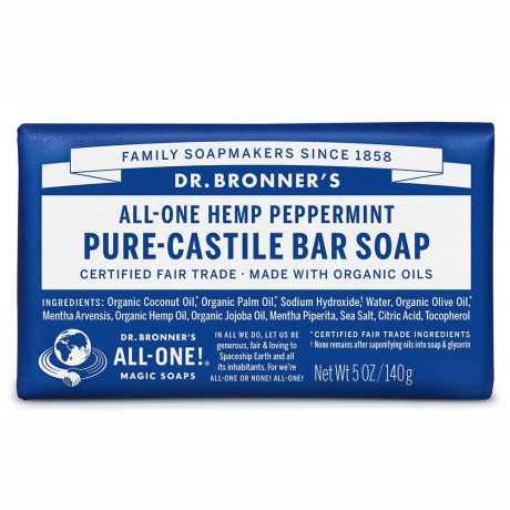 Dr. Bronner's Pure-Castile Soap Bar - Peppermint 140g