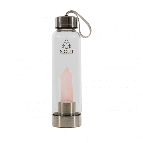 Soji Energy Rose Quartz Water Bottle