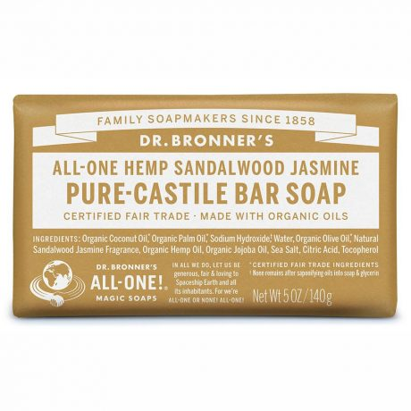 Dr. Bronner's Pure-Castle Soap Bar - Sandalwood 140g