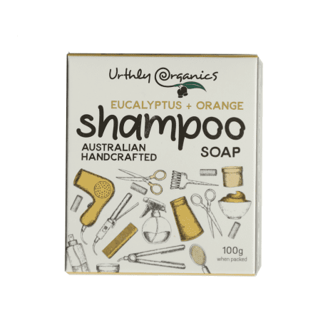 UrthlyOrganics Orange and Eucalyptus Shampoo Soap 100g
