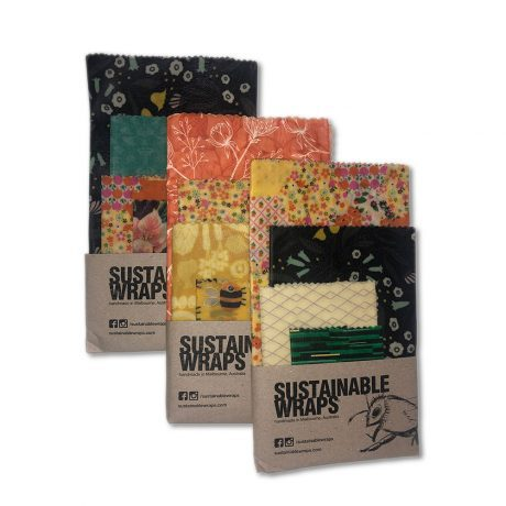Sustainable Beeswax Wraps - 4 Sizes