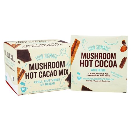 Four Sigmatic Mushroom Hot Cacao 6g Packets With Reishi