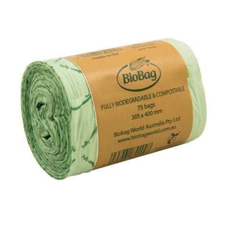BioBag World Australia 8L Roll of Waste Bags - 75 Bags