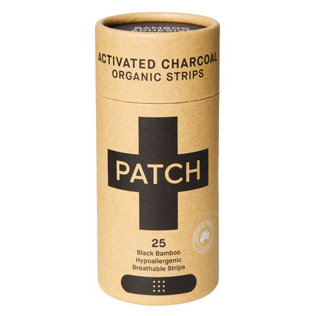 Patch Adhesive Bamboo Bandages Charcoal - Bites & Splinters 25