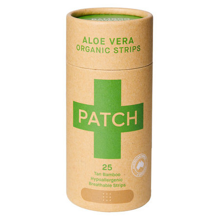 Patch Adhesive Bamboo Bandages - Aloe Vera for Burns & Blisters 25