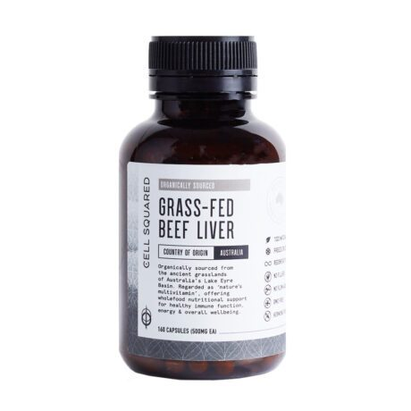 Cell Squared Organic Grass-Fed Beef Liver Capsules (160)